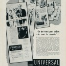 1954 Universal Geneve Watch Company Geneva Switzerland Vintage 1954 Swiss Ad Suisse Advert