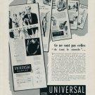 1954 Universal Geneve Watch Company Geneva Switzerland Vintage 1954 Swiss Ad Suisse Advert