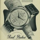 1954 Paul Buhre Watch Company Switzerland Vintage 1954 Swiss Ad Suisse Advert Horology Horlogerie