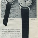 1958 Leonidas Watch Company St-Imier Switzerland 1958 Swiss Ad Suisse Advert Horology Horlogerie