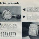 1958 Veglia Borletti Clock Company Italy Vintage 1958 Swiss Ad Suisse Advert Horology Horlogerie