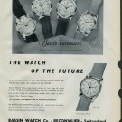 1958 Bassin Watch Company Reconvilier Switzerland Vintage 1958 Swiss Ad Suisse Advert