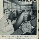 1958 Norexa Watch Company Geneva Vintage 1958 Swiss Ad Suisse Advert Excelsior Watch Co. India