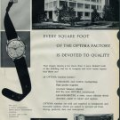 1958 Optima Watch Company Grenchen Switzerland Vintage 1958 Swiss Ad Suisse Advert Horology