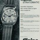 1967 Alpina Watch Company Alpina Stratomatic Advert Vintage 1967 Swiss Ad Suisse Advert Horology