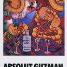Gilberto Guzman Absolut Guzman Art Ad Absolut Vodka Advertisement Advert