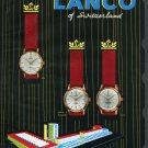 1958 Lanco Watch Company Langendorf Switzerland Vintage 1958 Swiss Ad Suisse Advert Larex