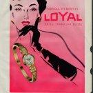 1958 Loyal Watch Company Switzerland 1958 Swiss Ad Suisse Advert Heiwado Watch Company Japan