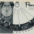 1957 Flucano Watch Company W. Fluck Grenchen Switzerland Vintage 1957 Swiss Ad Suisse Advert