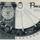 1957 Flucano Watch Company W. Fluck Grenchen Switzerland Vintage 1957 Swiss Ad Suisse Advert