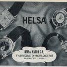 1957 Helsa Watch Company Porrentruy Switzerland Vintage 1957 Swiss Ad Suisse Advert