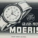 1957 Moeris Watch Company Saint-Imier Switzerland Vintage 1957 Swiss Ad Suisse Advert
