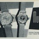 1957 Muros Watch Company Erwin Triebold Mumpg Vintage 1957 Swiss Ad Suisse Advert