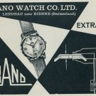 1957 Orano Watch Company Lengnau Bienne Switzerland Vintage 1957 Swiss Ad Suisse Advert
