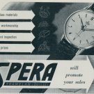 1957 Spera Watch Company Tramelan Switzerland Vintage 1957 Swiss Ad Suisse Advert Horology