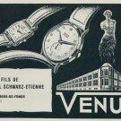 1957 Venus Watch Company Fils Paul Schwarz-Etienne Vintage 1957 Swiss Ad Suisse Advert