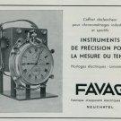 1947 Favag Clock Company Neuchatel Switzerland Vintage 1947 Swiss Ad Suisse Advert