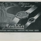 1947 Montilier Watch Company Switzerland Vintage 1947 Swiss Ad Suisse Advert Horology