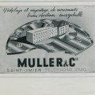 1947 Muller & Cie Saint-Imier Switzerland Vintage 1947 Swiss Ad Suisse Advert Horlogerie