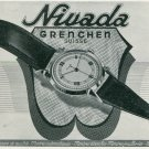 1947 Nivada Watch Company Grenchen Switzerland Vintage 1947 Swiss Ad Suisse Advert