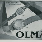 1947 Olma Watch Company Numa Jeannin SA Switzerland Vintage 1947 Swiss Ad Suisse Advert