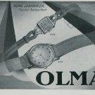 1947 Olma Watch Company Numa Jeannin SA Switzerland Vintage 1947 Swiss Ad Suisse Advert