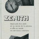 1947 Zenith Watch Company Switzerland Vintage 1947 Swiss Ad Suisse Advert Horology