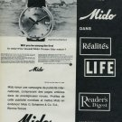 1965 Mido Watch Company Mido Ocean Star Advert Vintage 1965 Swiss Ad Suisse Advert