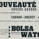 1957 Bolsa Watch Company Switzerland Vintage 1957 Swiss Ad Suisse Advert Horology