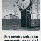 1957 Roamer Watch Company Soleure Switzerland Vintage 1957 Swiss Ad Suisse Advert