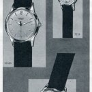 Vintage 1957 Silvana S.A. Watch Co Switzerland Original Swiss Print Ad Suisse Publicite Montres