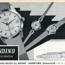 1957 Candino Watch Company Switzerland Vintage 1957 Swiss Ad Suisse Advert Horology