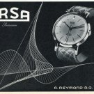1957 Arsa Watch Company Tramelan Switzerland Vintage 1957 Swiss Ad Suisse Advert A. Reymond