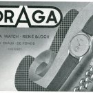 1947 Draga Watch Company Rene Bloch Switzerland Vintage 1947 Swiss Ad Suisse Advert Horology