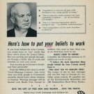 Radio Free Europe Crusade for Freedom Truth Message Vintage 1960 Ad Advert Khrushchev