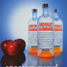 Absolut Cliche Ad Apples and Oranges Mandrin Absolut Vodka Advertisement Advert