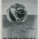 Charles Aerni SA Watch Company Le Locle Switzerland Vintage 1947 Swiss Ad Publicite Suisse