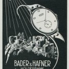 1947 Mentor Watch Company Bader & Hafner Holderbank Switzerland 1947 Swiss Ad Suisse Advert