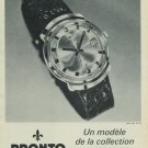 1965 Pronto Watch Company Switzerland Vintage 1965 Swiss Ad Suisse Advert Horology