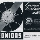 1963 Leonidas Watch Company Saint-Imier Switzerland Vintage 1963 Swiss Ad Suisse Advert