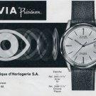 1963 Nivia Watch Company Bienne Switzerland Vintage 1963 Swiss Ad Suisse Advert Horology