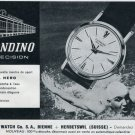 1963 Candino Watch Company Naval Hero Advert Vintage 1963 Swiss Ad Suisse Advert Switzerland