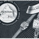 1951 Montanus Watch Company Schindler & Moenig Switzerland 1951 Swiss Ad Suisse Advert