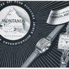 1951 Montanus Watch Company Schindler & Moenig Switzerland 1951 Swiss Ad Suisse Advert