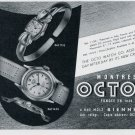1951 Octo Watch Company Bienne Switzerland Vintage 1951 Swiss Ad Suisse Advert Horology