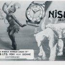 1951 Nisus Watch Company Bienne Switzerland Vintage 1951 Swiss Ad Suisse Advert