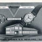 1951 Reusser Watch Company Reusser Freres SA Switzerland Vintage 1951 Swiss Ad Suisse Advert