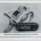 1951 Camy Watch Company Stroun Freres SA Switzerland Vintage 1951 Swiss Ad Suisse Advert