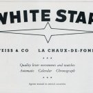 1951 White Star Watch Company Weiss & Co Switzerland Vintage 1951 Swiss Ad Suisse Advert
