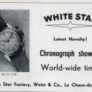 1951 White Star Watch Company Switzerland Vintage 1951 Swiss Ad Suisse Advert Horology
